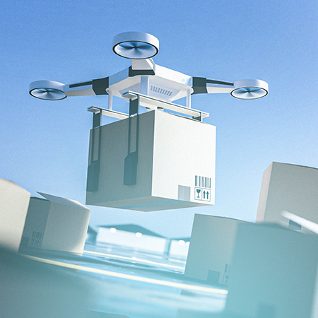 Uso de drones comerciales